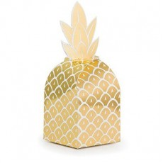 Bridal Shower Pineapple Wedding Treat Favour Boxes 7cm x 7cm x 17cm Pack of 8