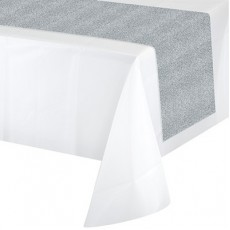 Silver with Glitter Table Runner