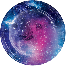 Galaxy Lunch Plates 18cm Pack of 8