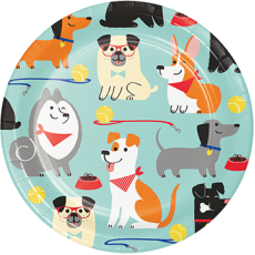 Dog Lunch Plates 18cm Pack of 8