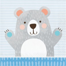 1st Birthday Bear Party Supplies - Lunch Napkins
