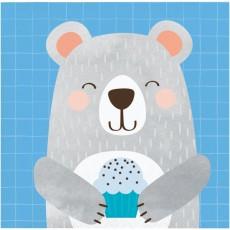 1st Birthday Bear Party Supplies - Beverage Napkins