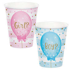Gender Reveal Paper Cups