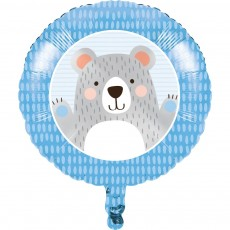 1st Birthday Bear Foil Balloon