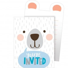 1st Birthday Bear Party Supplies - Invitations Pop-Up