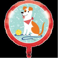 Round Dog Foil Balloon 45cm