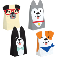 Dog Paper Treat Favour Bags 20cm x 11cm Pack of 8