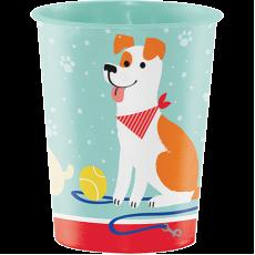 Dog Keepsake Souvenir Favour Plastic Cup 473ml