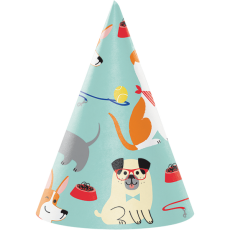 Dog Party Party Hats Pack of 8