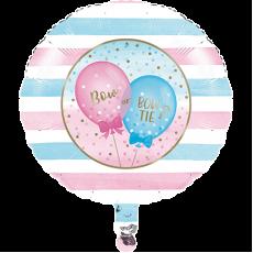 Round Gender Reveal Foil Balloon 45cm