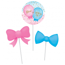 Gender Reveal Centrepieces Pack of 3