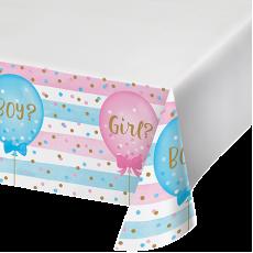 Gender Reveal Plastic Table Cover 137cm x 259cm