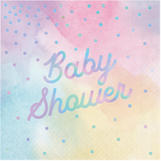 Baby Shower - General Iridescent  Lunch Napkins