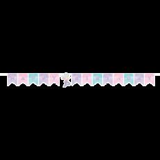Mermaid Shine Iridescent Happy Birthday Banner 15cm x 1.63cm
