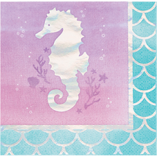 Mermaid Shine Iridescent Beverage Napkins