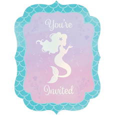 Mermaid Shine Iridescent Invitations