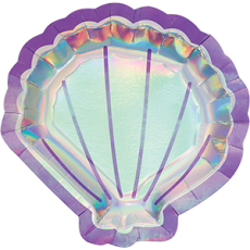 Mermaid Shine Iridescent Dinner Plates