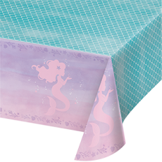 Mermaid Shine Iridescent Plastic Table Cover