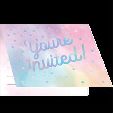Iridescent Foil Foldover Invitations