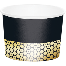 Gold Black & Foil Decor Treat Paper Cups