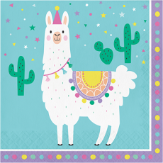 Llama Fun Party Lunch Napkins Pack of 16