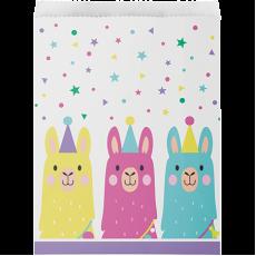 Llama Fun Party Treat Paper Favour Bags 22cm x 16cm Pack of 10