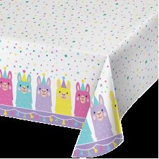Llama Fun Party Table Cover 137cm x 259cm