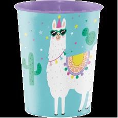 Llama Fun Party Construction Keepsake Souvenir Favour Plastic Cup 473ml