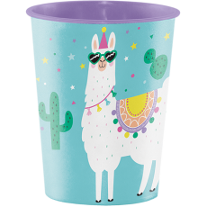 Llama Fun Party Construction Keepsake Souvenir Favour Plastic Cup