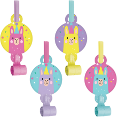 Llama Fun Party Blowouts Pack of 8