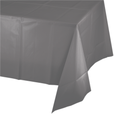 Grey Glamour Gray  Plastic Table Cover