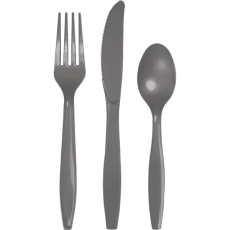 Grey Glamour Gray  Cutlery Sets