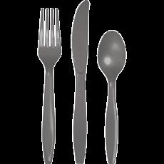 Grey Party Supplies - Cutlery Sets