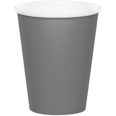 Grey Glamour Gray  Paper Cups