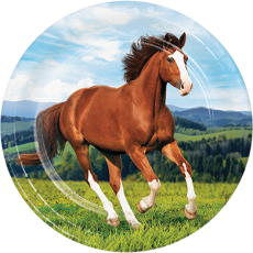 Round Horse and Pony Dinner Plates 22cm Pack of 8