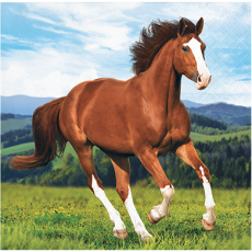 Horse and Pony Beverage Napkins Pack of 16