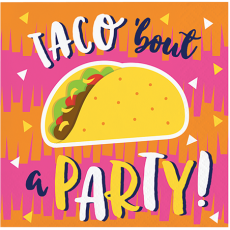 Fiesta Fun Taco bout a Party! Beverage Napkins Pack of 16