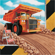 Big Dig Construction Lunch Napkins Pack of 16