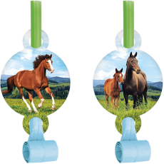 Horse and Pony Blowouts Pack of 8