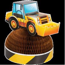Big Dig Construction 3D Honeycomb Centrepiece 28cm x 23cm