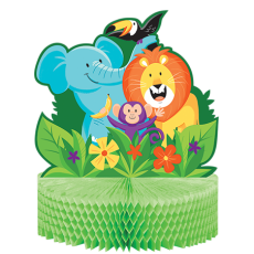 Jungle Safari Honeycomb Centrepiece 28cm x 23cm
