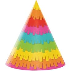 Fiesta Fun Party Hats 17cm Pack of 8