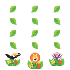 Jungle Safari String Cutout Hanging Decorations