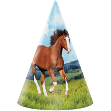 Horse and Pony Party Hats Pack of 8