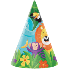 Jungle Safari Cone Party Hats