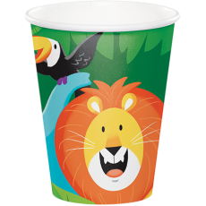 Jungle Safari Paper Cups 266ml Pack of 8