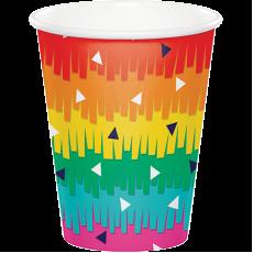 Fiesta Fun Paper Cups 266ml Pack of 8