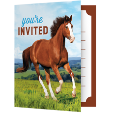 Horse and Pony Foldover Invitations