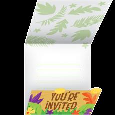 Jungle Safari Gatefold Invitations 11cm x 11cm Pack of 8