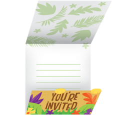 Jungle Safari Gatefold Invitations